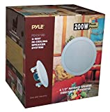 Pyle PDIC61RD In-Wall / In-Ceiling Dual 6.5-Inch Speaker System, 2-Way, Flush Mount, White