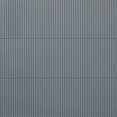 Auhagen 52231.0 - Dekorplatten Wellblech, 10 x 20 cm Struckturfläche, grau