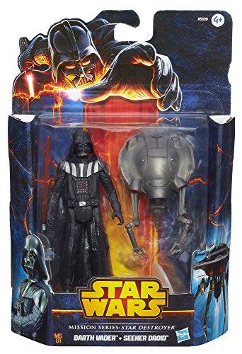 Hasbro A6469E27 - Star Wars Mission Series Figuren, 2-er Pack - Darth Vader und Seeker Droid