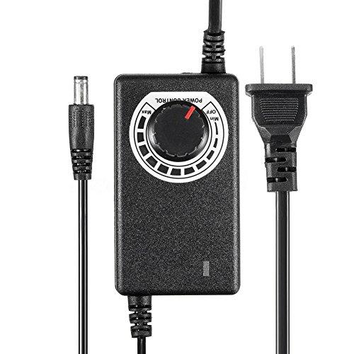 Crewell 9 – 24 V 1 A 24 W Regulable Fuente de Alimentación Controlador de Velocidad del Motor para luz LED TV Portátil Altavoz