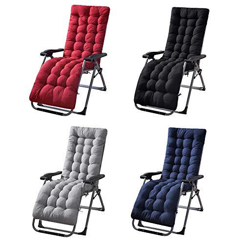 Stecto Cuscini per Sdraio, Cuscino di Ricambio Morbido Antiscivolo per Chaise Longue, Cuscino per Sedia Relaxer reclinabile per Esterno