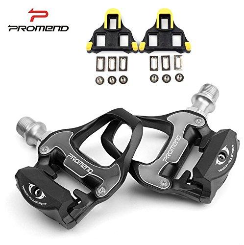 PROMEND Pédales automatiques pour Vélos de route Vélos de course + Cales SPD-SL, Flycoo
