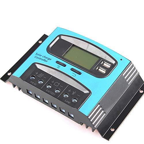PSOIHGTFS Solar-Laderegler, Dual USB Port Sonnenkollektor-Batterie Intelligent, einstellbare LCD Display Straßenlaterne-Controller 12V / 24V10A, 20A, 30A, 40A, 50A, 60A PWM,12v/24v 10a