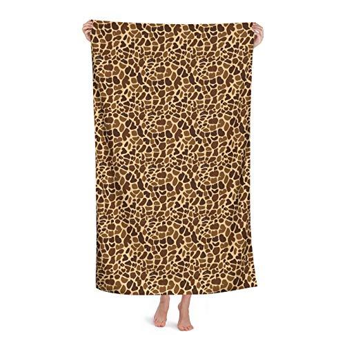 Patrón de impresión animal para su toalla de playa de diseño, 80 cm x 130 cm, suave, ligera, absorbente para baño, piscina, yoga, pilates, manta de picnic