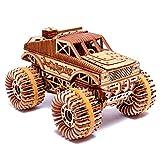 Wood Trick - Vehículo Monster Truck - Puzzle 3D Madera - Ensamblaje sin Pegamento - 556 Piezas