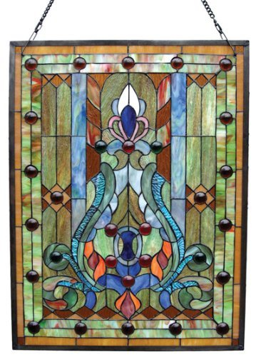 Chloe Lighting Rectangle Victorian Glass Panel