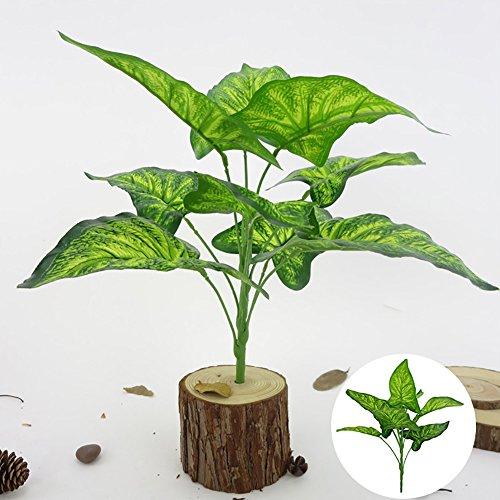 XdiseD9Xsmao 1Bouquet 9 Heads Fast Natuurlijke kunstmatige plant Fairy Taro Leaves Home Bonsai Decoratie Geef Kerstmis een bijzondere sfeer