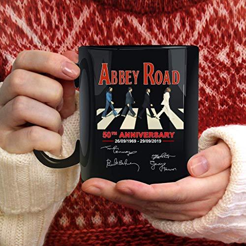 Abbey Road T_h_e_b_e_a_t_l_e_s 50th Anniversary Signature Mug Camping Travel Ceramic Mug Water Bottle