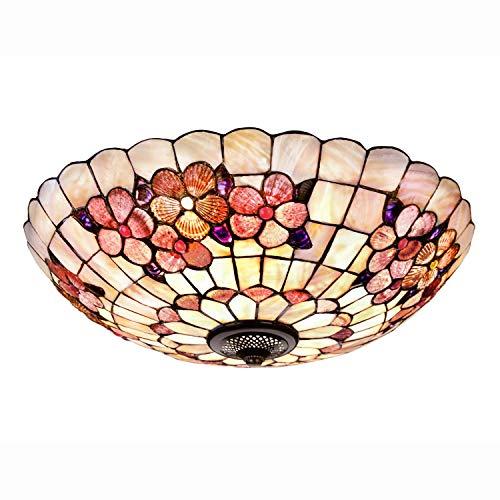Tiffany-Stil Deckenlampe,Handgefertigte Mosaik Schale Deckenleuchte,Modern Deckenbeleuchtung Beleuchtung für Esszimmer Schlafzimmer Wohnzimmer Küche Dekoration,100-240V,12inch