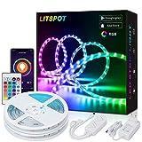 LITSPOT Smart WiFi LED Streifen,10M RGB LED Strip Beleuchtung, APP-Steuerung Musik LED Band Lichterkette für Haus, Küche, TV, kompatibel mit Alexa, Google Assistant, IFTTT