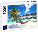 Lais Jigsaw Puzzle Playa Tropical con palmeras y hamaca 1000 piezas