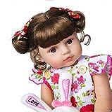 WYZQ 55 Cm 22'Reborn Baby Dolls Cuerpo Completo Silicona Suave Real Touch Princess Doll Niño Realista Baby Doll Play House Gift Juguetes para niños, Boca magnética, Muñecas nutritivas, Muñecas nutrit