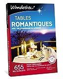Wonderbox – Coffret cadeau - TABLES ROMANTIQUES – 655 restaurants renommés, labellisés, dîner-croisières, assiettes gastronomiques pour 2 personnes