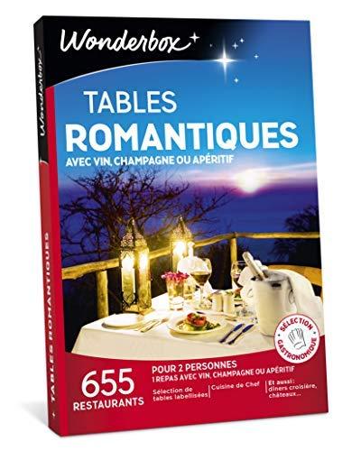 Wonderbox – Coffret cadeau saint valentin - TABLES ROMANTIQUES