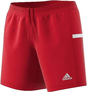 Adidas T19 KN SHO W Short Femme, Power Red/White, FR : L (Taille Fabricant : LT)