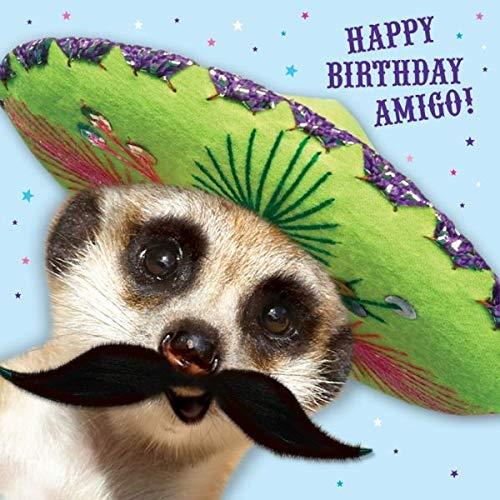 Quay Side Cards briefkaart verjaardag snoep en Mexicaanse hoed