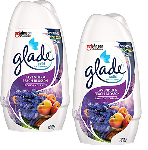 Glade Solid Air Freshener, Lavender & Peach Blossom, 6 oz - 2 Pack