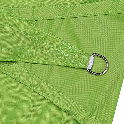 HTHJA Transpirable Toldo Vela de Sombra,Toldo Impermeable para Patio al Aire Libre, toldo Rectangular de poliéster 1.8X2m Verde
