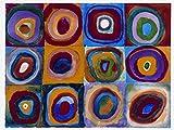 1art1 Wassily Kandinsky - Farbstudie Quadrate Und