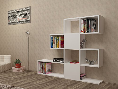 Decorotika Living Room Dormitory Set TV Stand+Bookcase+Computer Desk All in One for Small Rooms - Great Deal!!! (Bookcase)
