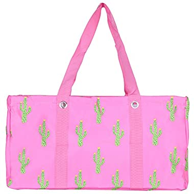Wireframe All Purpose Large Utility Bag (Pink Cactus)