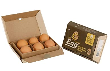 Farm Made Foods UPF Energy Eggs - Brown, 6 Pieces