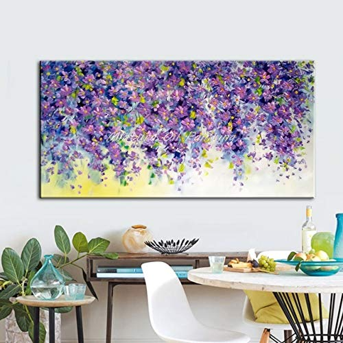 mmzki Blumen und Baum zeichnen Morden Ölgemälde auf Leinwand Wandbilder für Live Room Home Decor