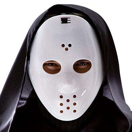 Masque de Hockey Jason Vendredi 13 Deguisement Halloween - Blanc - 458
