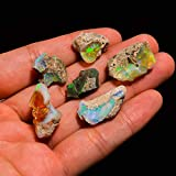 Raw Opal Gemstone and Crystals, Wholesale lot, fire Play Gemstone, Rough Crystals, Rock Stones, Jewelry Making Supplies, DIY & Crafts, 14 to 22 mm, Pcs : 4 to 6, Pack of : 50 carats
