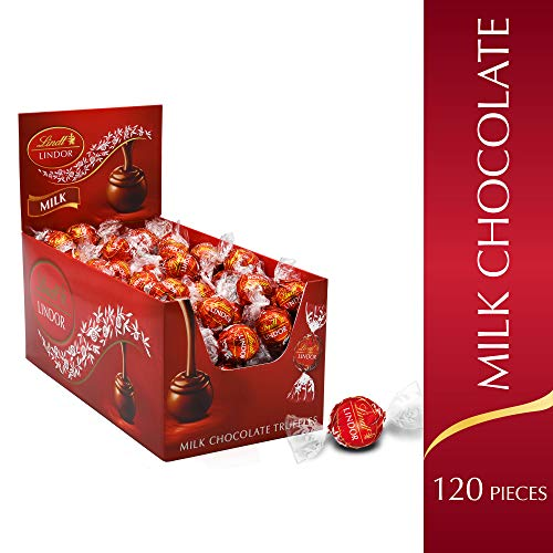 Lindt LINDOR Milk Chocolate Truffles, Kosher, 120 Count, 50.8 Ounce