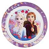 Frozen Eiskönigin Teller für Mikrowelle, 2 Flach, nicht anwendbar, Schwarz