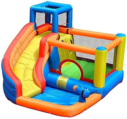 wangYUEQ Castillos inflables del Castillo Inflable Diapositiva de Agua del Castillo para niños Fiesta de cumpleaños al Aire Libre de los niños con el soplador de Aire Castillos hinchables