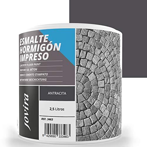 ESMALTE HORMIGÓN IMPRESO Resina renovadora para pavimentos de hormigón. (2.5 Litros, ANTRACITA)