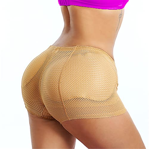 UKKD Bragas con Relleno Mujeres Pantías Acolchadas Cuerpo Shaper Pantalones Fake Ass Big Booty Bum Bum Lifter Hip Butt Mejora-Black,S-Asian Tag L