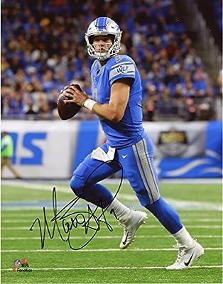 """Matthew Stafford Detroit Lions Autographed 8"""" x 10"""" Blue Vertical Photograph - Fanatics Authentic Certified"""