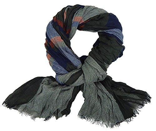 Ella Jonte FOULARD ÉCHARPE HOMME tendance by gris bleu rouge très chic