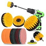 Drill Brush Power Scrubber Drill Brush Attachment 15 Set with Extend Long Attachment Suitable for Clean for Grout, Tiles, Sinks, Bathtub, Bathroom, Kitchen & Auto