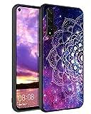 YINLAI Coque de protection pour Huawei Nova 5T / Honor 20 - Violet - Motif mandala nébuleuse - TPU...