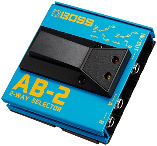 BOSS AB-2 2-Way Selector Foot Switch, A/B Selector with 1-Click Operation and Silent Switching, Rock-Solid BOSS Construction