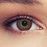 Designlenses Lentes de contacto de color marrón natural con...