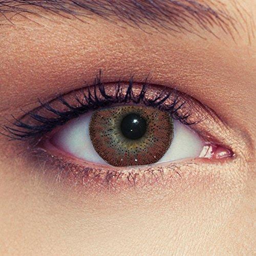 Braune farbige Kontaktlinsen ohne Stärke Design: Natural Hazel
