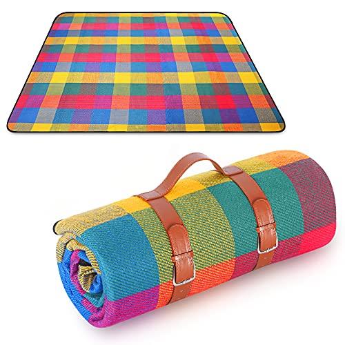 Aixingyun Picknickdecke 150 x 200 cm Große Picknickdecken mit Wasserdichtem Rücken campingdecke für Garten und Außen Wasserdicht und Feuchtigkeitsbeständig Picknick-Matte