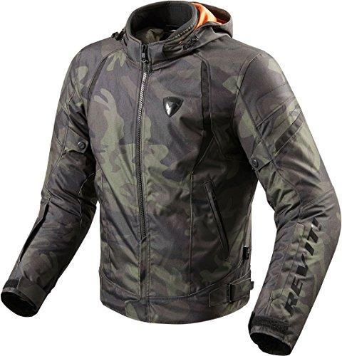 REV'IT! Motorradjacke mit Protektoren Motorrad Jacke Flare Textiljacke Army grün XL, Herren, Chopper/Cruiser, Ganzjährig