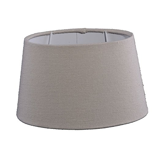 Lampenschirm für Tischleuchte in Oval Leinen Almeria Natur TL 20-16-12