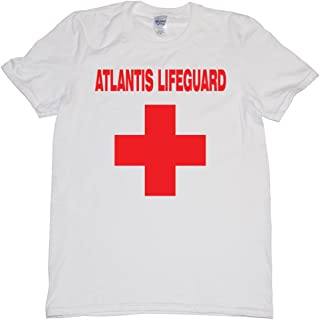 Legendary Mythical Lost City of Atlantis Life Guard Red Cross T Shirt Mens N