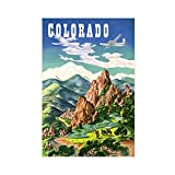 Colorado Mountains Nature Vintage Reise Fluggesellschaft