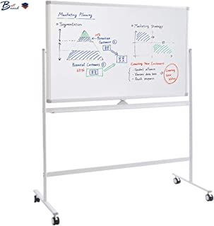 BESTBOARD Whiteboard with Rolling Stand, Large 36