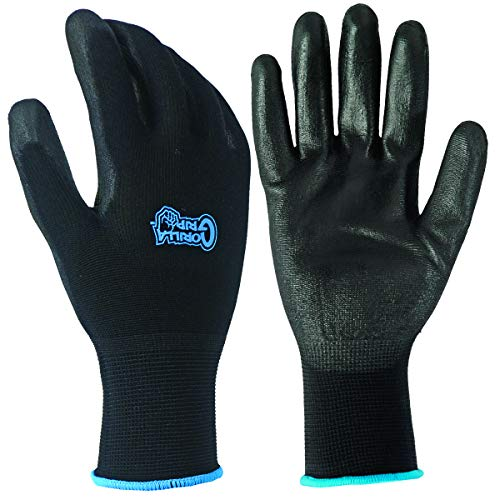 Gorilla Grip Slip Resistant All Purpose Work Gloves 25 Pack (Large)