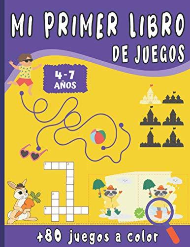 Mi Primer Libro de Juegos: Para niños de 4 a 7 años con +80 juegos a todo Color - Une los puntos, Juego de las diferencias, Lógica, Laberintos, sudoku... idea del regalo