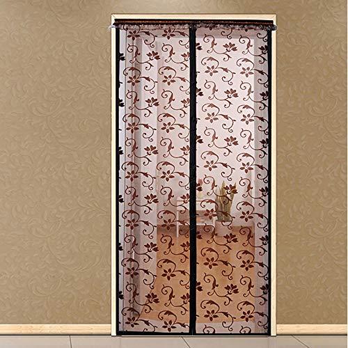 Hochwertige Sommer-Anti-Mücken-Vorhänge Magnetische Tüllvorhänge schließen automatisch die Türgitter-Küchenvorhang-Netztür in verschiedenen Größen A4 B80xH210